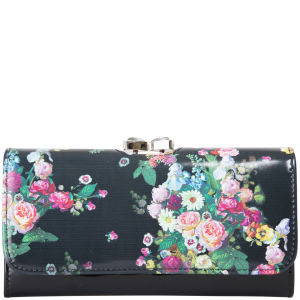 Ted Baker Balbara Oil Blossom Leather Matinee Purse - Black