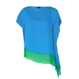 Joseph Women's 3583 Ines Silk Top - Turquoise