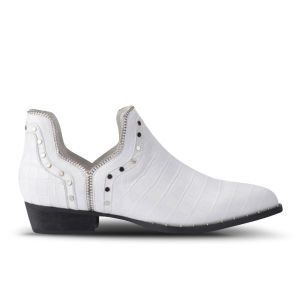 Senso Women's Benny III Croc Leather Ankle Boots - White