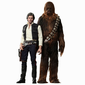 Hot Toys Star Wars Han Solo and Chewbacca Masterpiece Series Figure Set