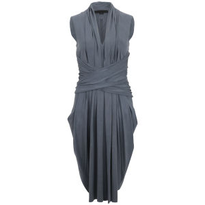 Alexander Wang Women's V-Neck Twisted Waist Dress - Marlin