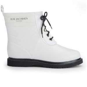 Ilse Jacobsen Women's Short Rubber Boots - White