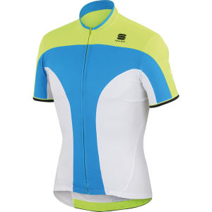 Sportful Crank 3 Jersey - Blue/Yellow/White