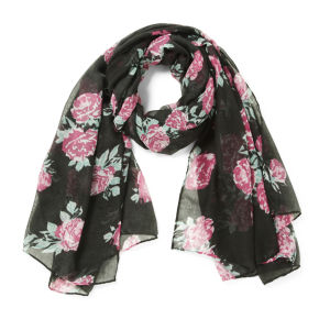 Impulse Women's Floral Scarf - Black