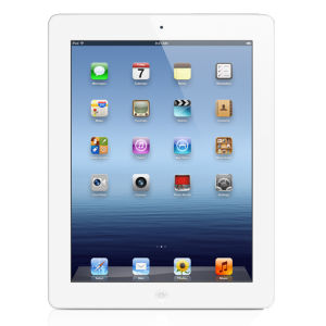 Apple New iPad 4th Generation - 16GB Wi-Fi Tablet in White (MD513B/A)