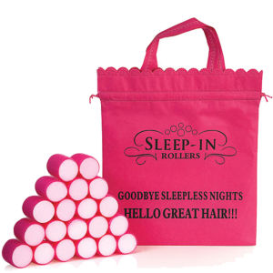 Sleep In Rollers Pink Rollers (20 Rollers plus Iconic Bag)