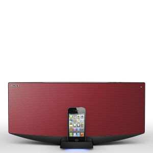 Sony All-In-One Bluetooth Audio System with Dock for iPhone, iPod and iPad - Red