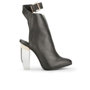 Miista Women's Roberta Perspex Heeled Leather Ankle Boots - Black