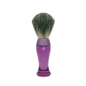 eShave Finest Badger Hair Shaving Brush Long Handle - Purple