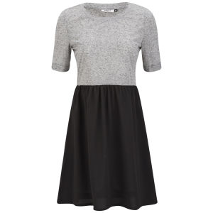 Only Women's Abel Contrast Skater Dress - Light Grey/Black