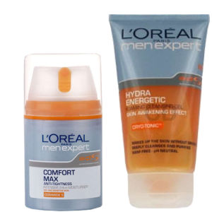 L'Oreal Paris Men Expert Duo- Hydra Energetic Cleansing Gel & Hydra Energetic Comfort Max