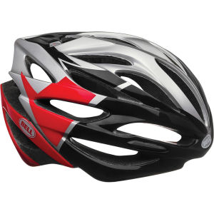 Bell Array Cycling Helmet Silver/Red/Black