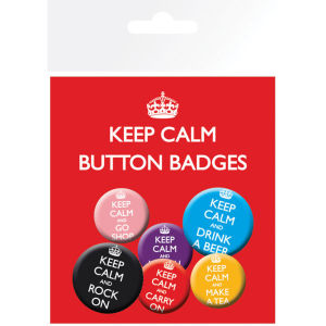 Keep Calm & Carry On - Badge Pack