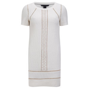 Marc by Marc Jacobs Women's Trim Detail T-Shirt Dress - Antique White