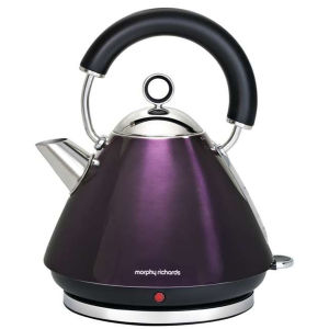 Morphy Richards 43769 Accents Traditional Kettle - Plum - 1.5L