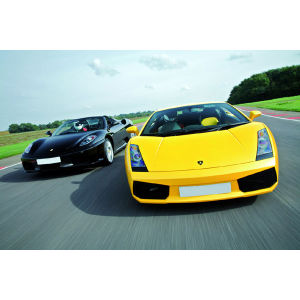Ferrari vs Lamborghini Thrill with Passenger Ride or Photo