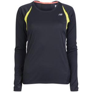 New Balance Women's Impact Long Sleeve T-Shirt - Black