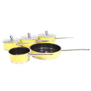 Morphy Richards Accents 5 Piece Pan Set - Yellow