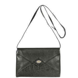 Gucci Vintage Leather Croc Effect Envelope Clutch/Cross-Body Bag