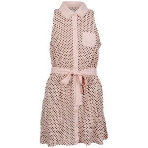 Sakura Women's Polka Dot Dress - Nude/Black