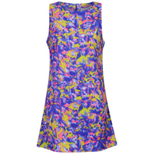 Glamorous Women's Printed Neon Shift Dress - Blue Multi