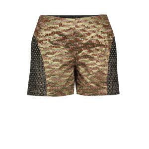 MW Matthew Williamson Women's 454 P107 Metallic Shorts - Gold & Multi