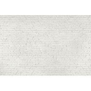 Wei e backsteinwand wandbild tapete sowia for Weisse tapete