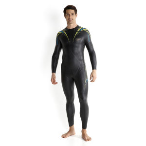 Speedo Men's Elite Full Suit - Black/Yellow/Blue