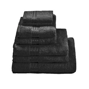 Restmor 100% Egyptian Cotton 7 Piece Supreme Towel Bale Set ( 500gsm) - Black