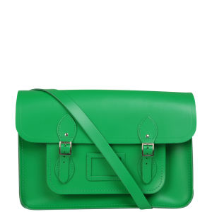 Cambridge Satchel Company 15 Inch Leather Satchel - Green