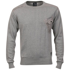 Benzini Men's Jackson Crew Neck Knit - Grey Marl
