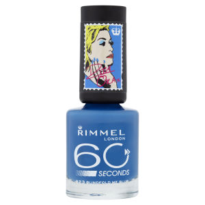 Rita Ora for Rimmel London 60 Seconds Nail Polish - Blindfold Me Blue