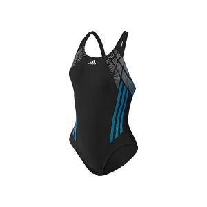 adidas Women's Tech Range Swimsuit - Black/Solar Blue