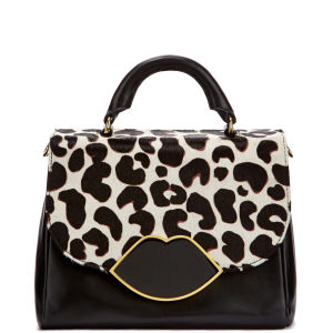 Lulu Guinness Small Izzy Leather Satchel - Stone Leopard