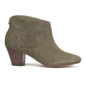H Shoes by Hudson Women's Kiver Suede Heeled Ankle Boots - Beige