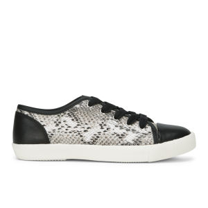 KG Kurt Geiger Women's Libby Snake Print Leather Trainers - Beige