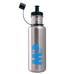 MP MAX Stainless Steel Sports Bottle Brushed Stainless Steel