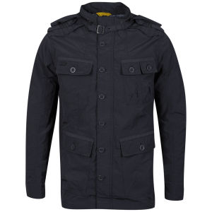 Brave Soul Men's 3/4 Length Oxford Jacket - Charcoal