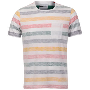 D-Code Men's Faded Stripe T-Shirt with Pocket - Antique Green