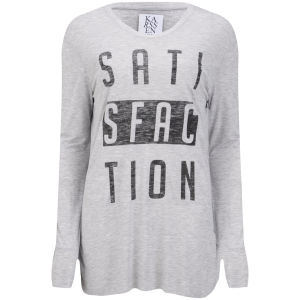 Zoe Karssen Women's Satisfaction Long Sleeve T-Shirt - Grey