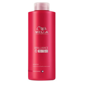 Champú cabello grueso teñido Wella Professionals Brilliance (1000ml)