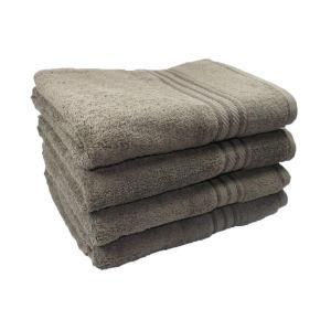 Restmor 100% Ägyptische Baumwolle 4 Stück Badetücher - Kohle