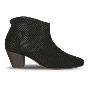 H by Hudson Women's Mirar Snake Heeled Ankle Boots - Black