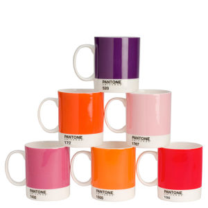 Pantone Universe Set of 6 Mugs - Mixed Reds