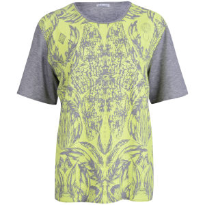 Draw In Light Women's Butterfly Unisex T-Shirt - Neon On Grey