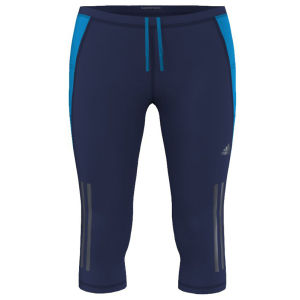 Adidas Women's Super Nova 3/4 Length Running Tights - Night Blue/Solar Blue