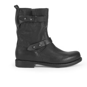 rag & bone Women's Moto Studded Leather Biker Boots - Black