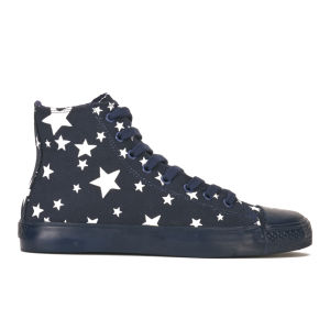 YMC Women's Star High Top Canvas Trainers - Navy