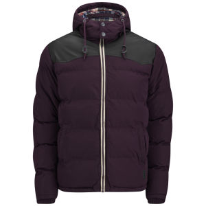 Soul Star Men's Swoosh Jacket - Burgundy
