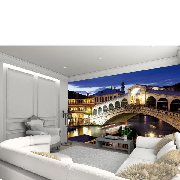 Venice rialto bridge wall mural homeware for Bridge wall mural